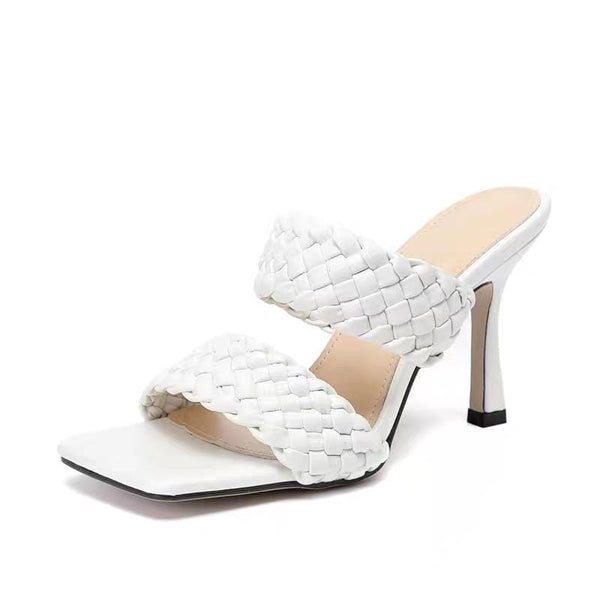 Sherry White High Heels