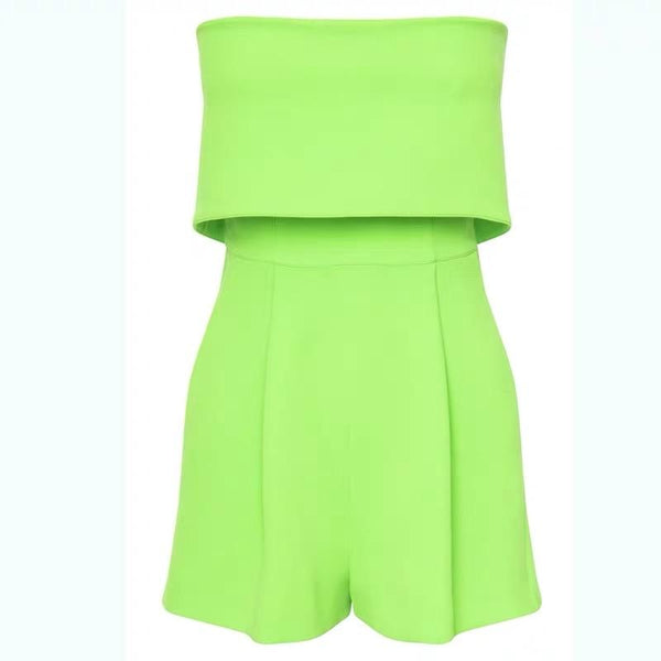 Off Shoulder Neon Jumpsuit