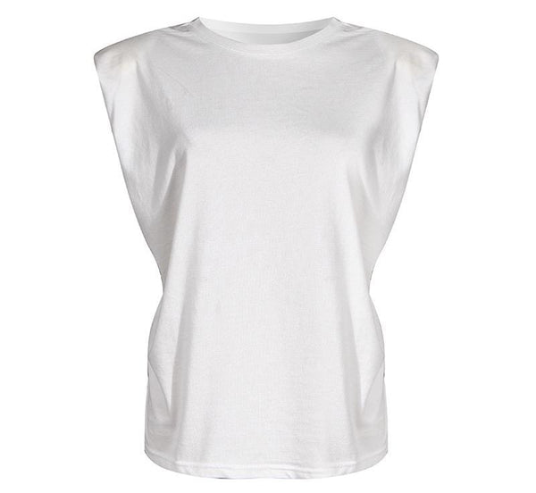 Shoulder Pad White Top