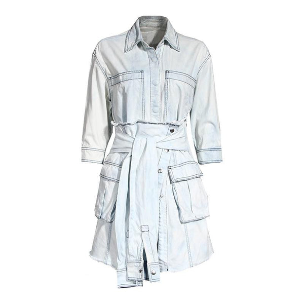 Leeyo Denim Dress Set