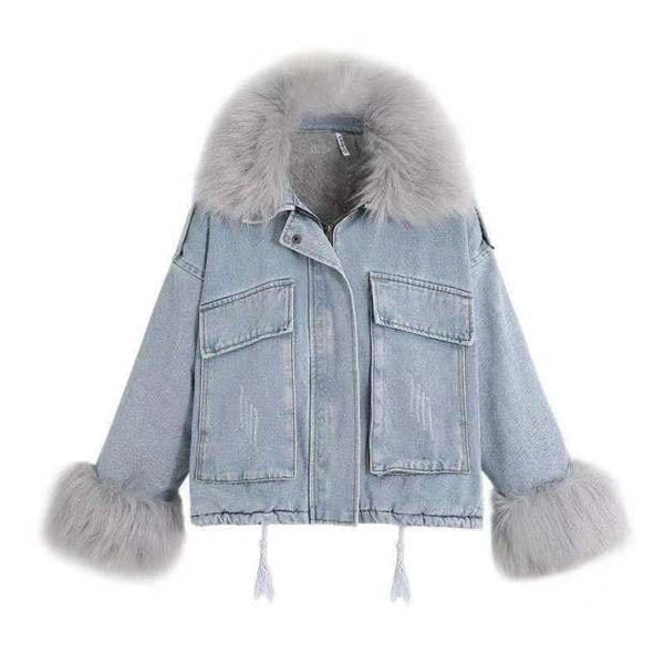 Gia Faux Fur Grey Jacket
