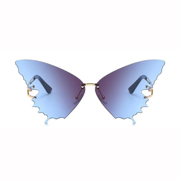 Butterfly Pattern Blue Sunglasses