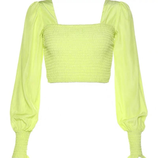Off Shoulder Neon Top