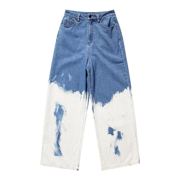 Bleach Printed Jeans