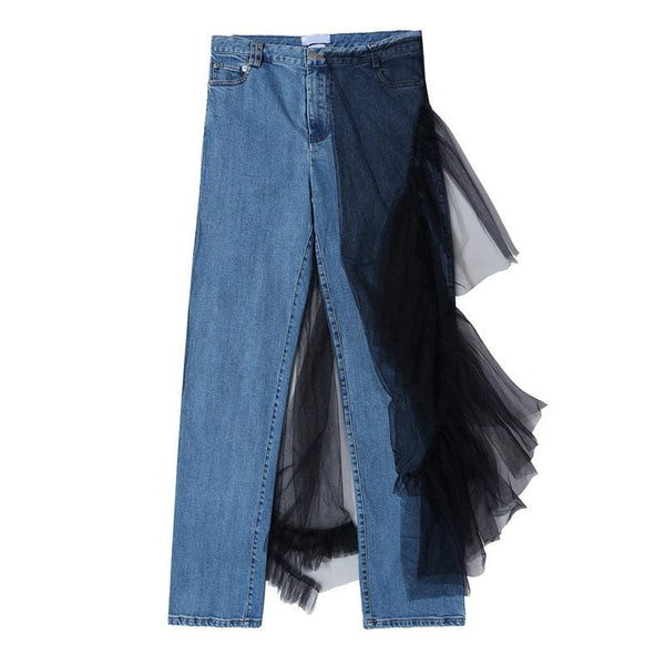 Mai Denim with Tulle Skirt