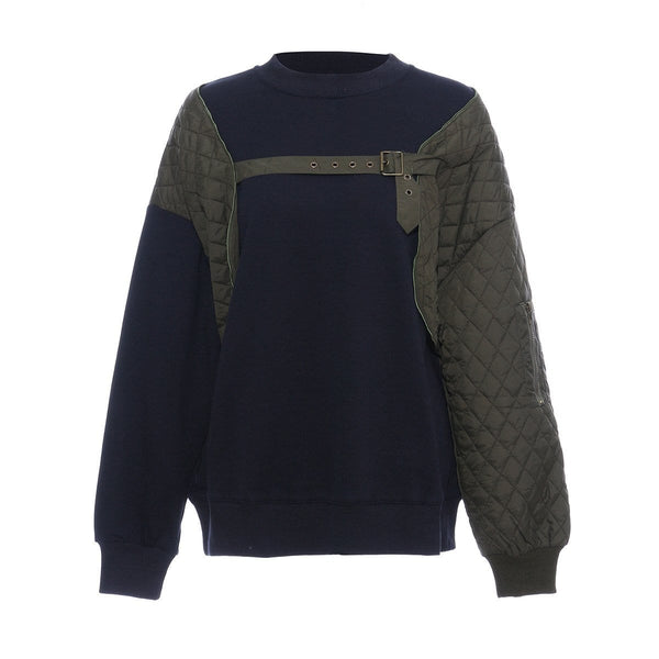 Sanzo Two Tone Navy Sweater
