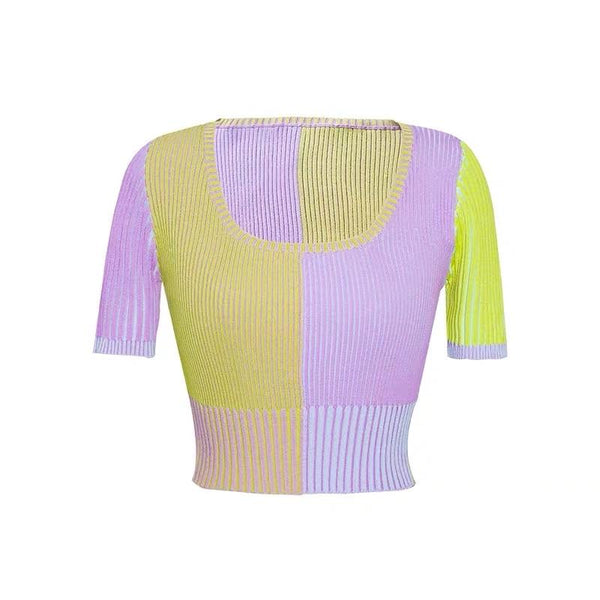 Saddle Knitted Purple Top