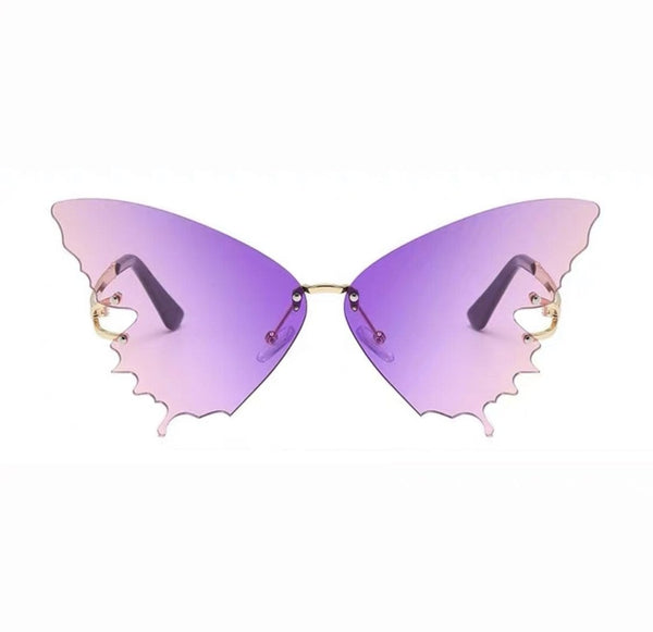 Butterfly Pattern Purple Sunglasses