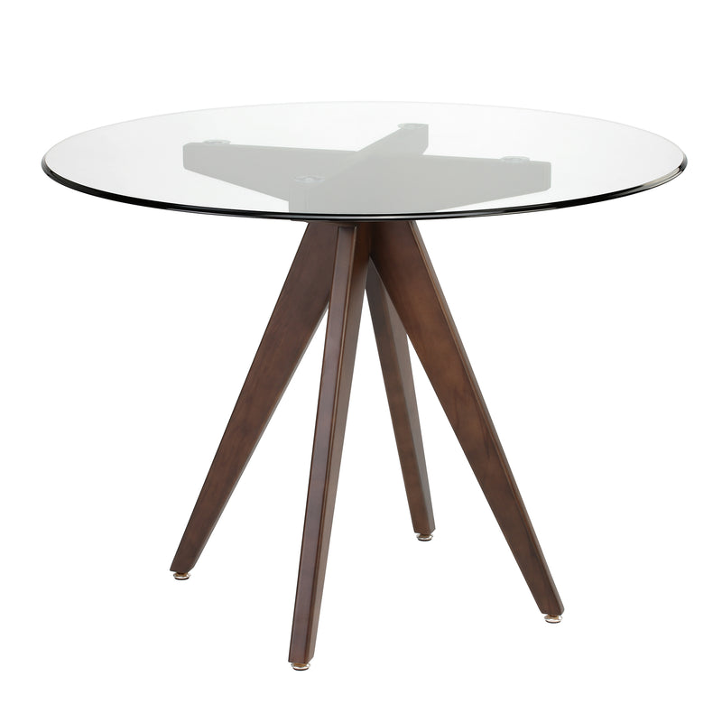 Valise Stockholm Round Dining Table in English Walnut