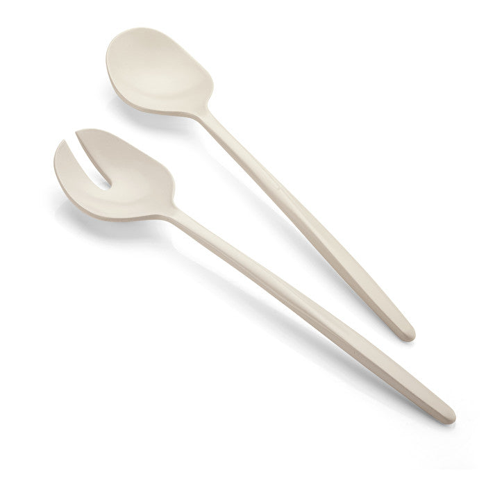 Guzzini Earth Salad Servers Milk White