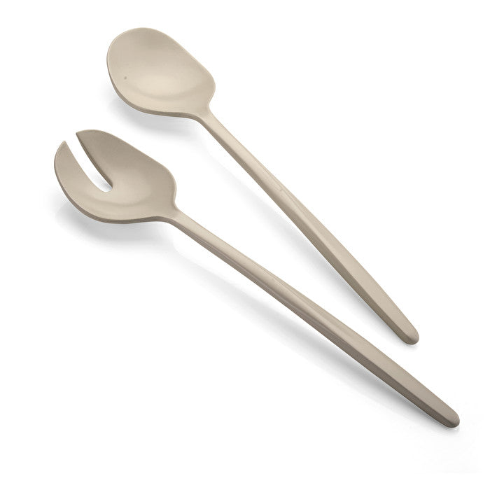 Guzzini Earth Salad Servers Taupe