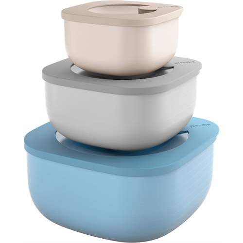 Guzzini Shallow Airtight Containers Set of 3