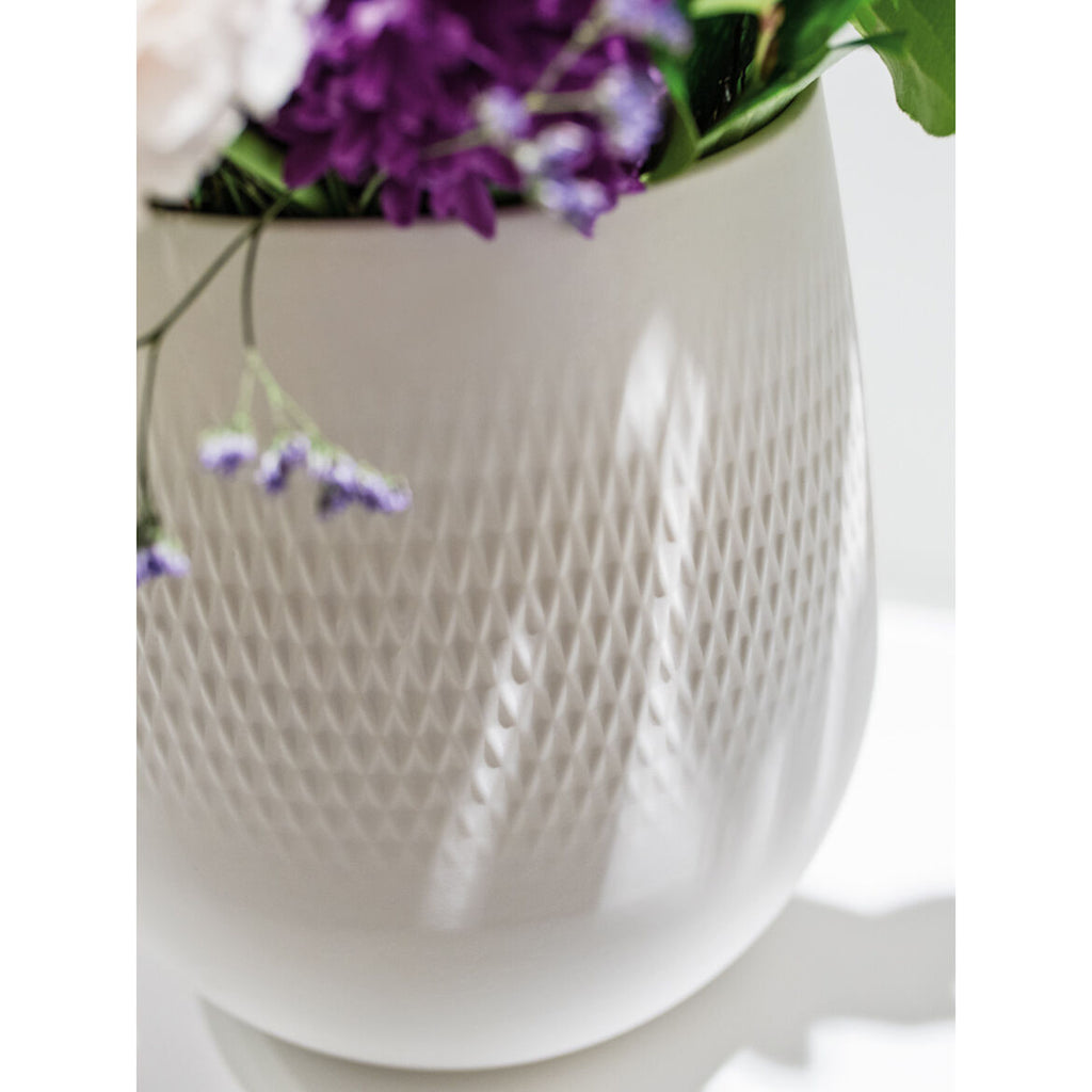 Villeroy & Boch Manufacture Collier Blanc Vase Carré Small