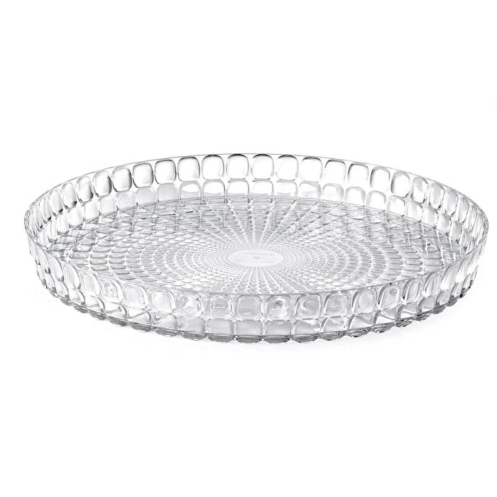 Guzzini Tiffany Round Tray Transparent
