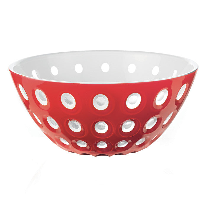 Guzzini Le Murrine Bowl 25cm Red/White/Transparent