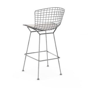 Replica Bertoia Barstool 65CM Chrome with White Cushion