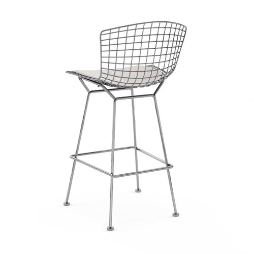 Set of 2 Replica Bertoia Barstool 65CM Chrome and White