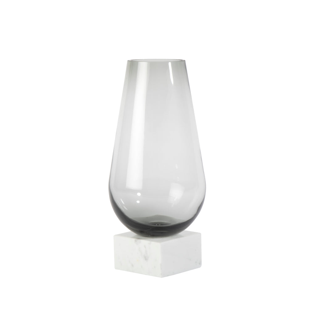 Valise Carrara Vase in White Marble