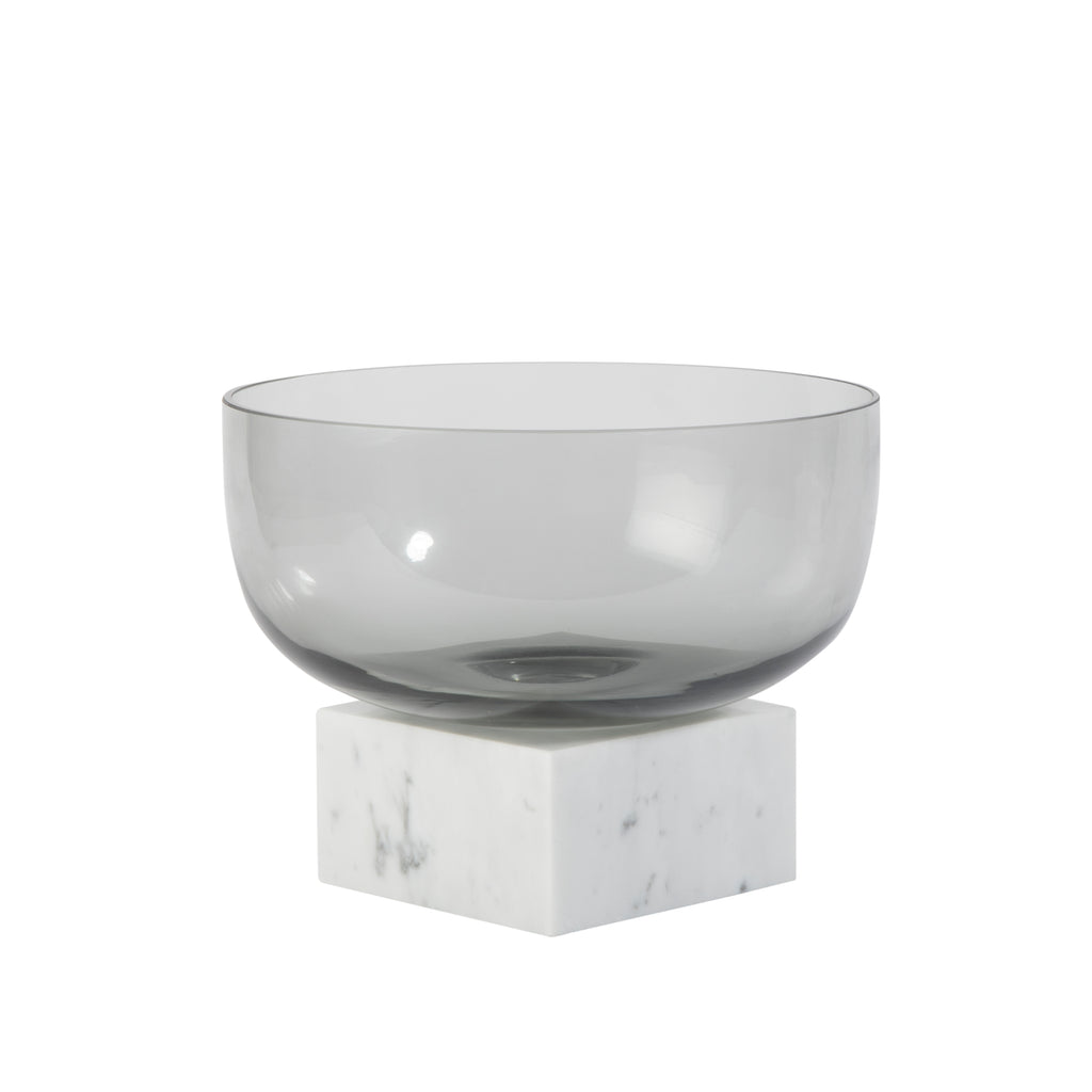 Valise Carrara Bowl in White Marble