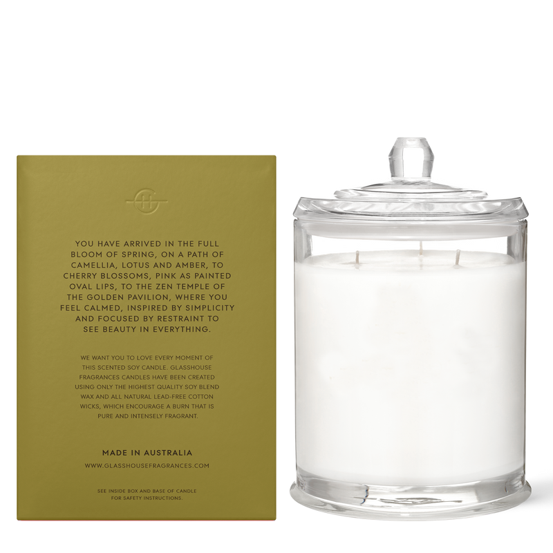 Glasshouse Fragrances 760g Kyoto in Bloom Candle