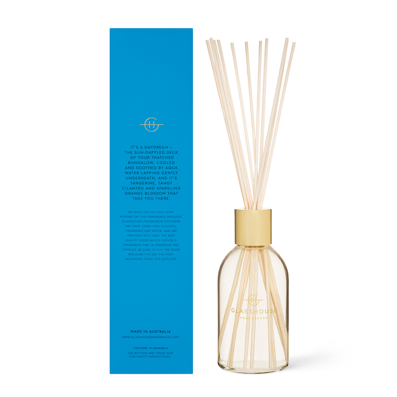 Glasshouse Fragrances 250ml Bora Bora Bungalow Diffuser