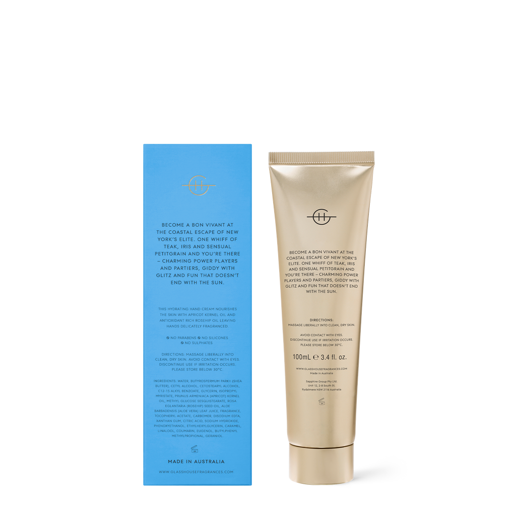 Glasshouse Fragrances 100ml The Hamptons Hand Cream
