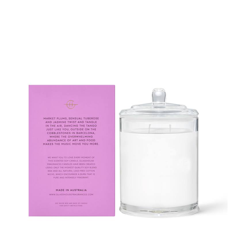 Glasshouse Fragrances 380g A Tango in Barcelona Candle