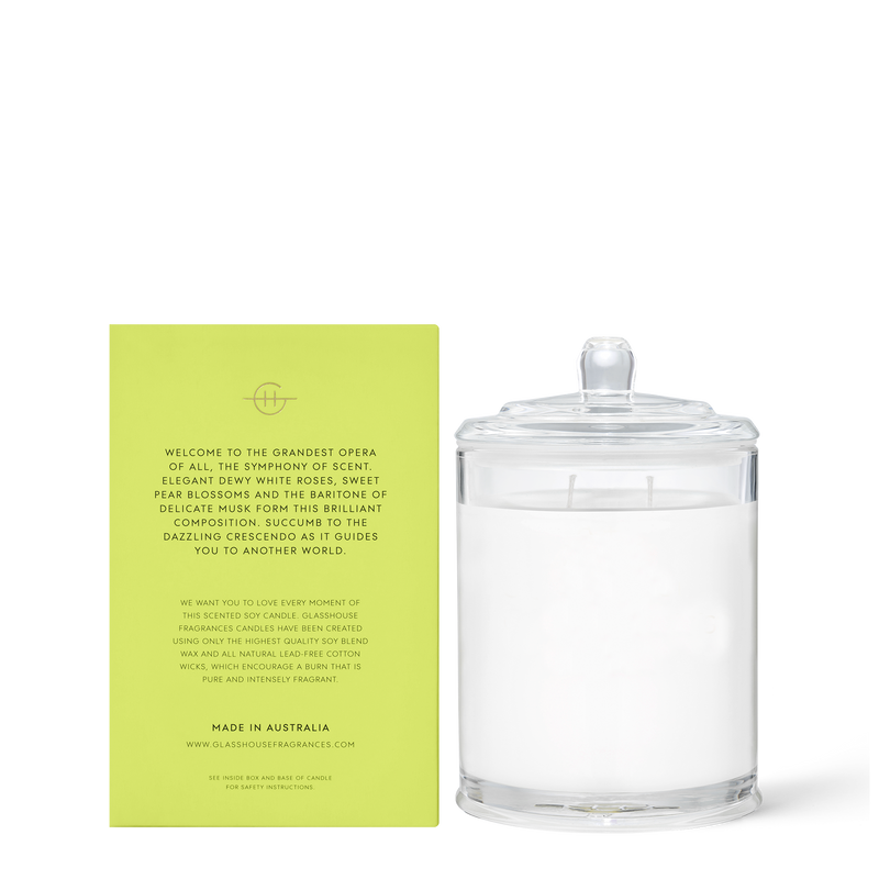 Glasshouse Fragrances 380g Flower Symphony Candle