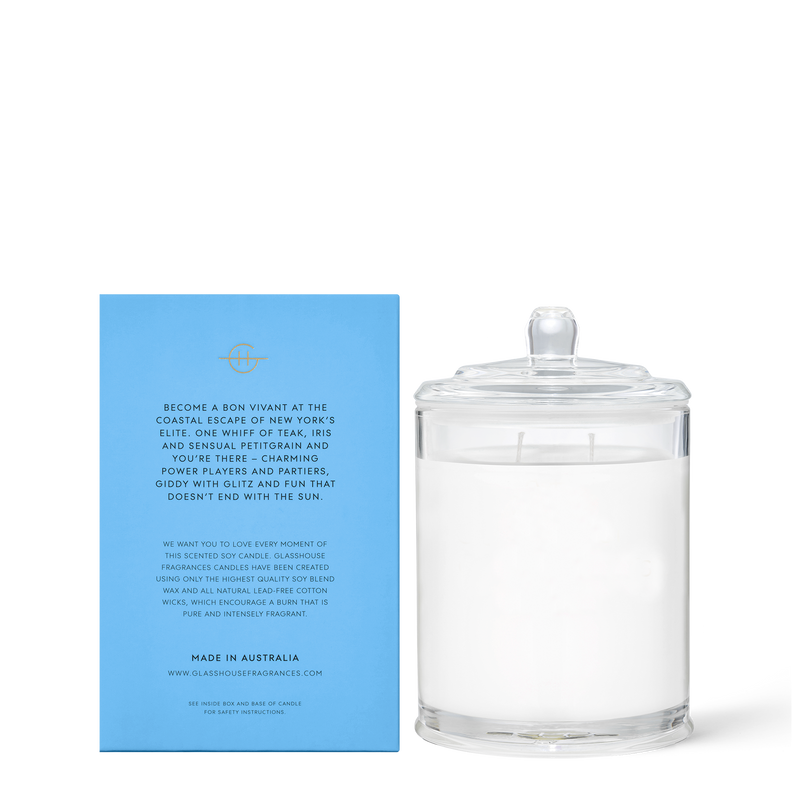 Glasshouse Fragrances 380g The Hamptons Candle