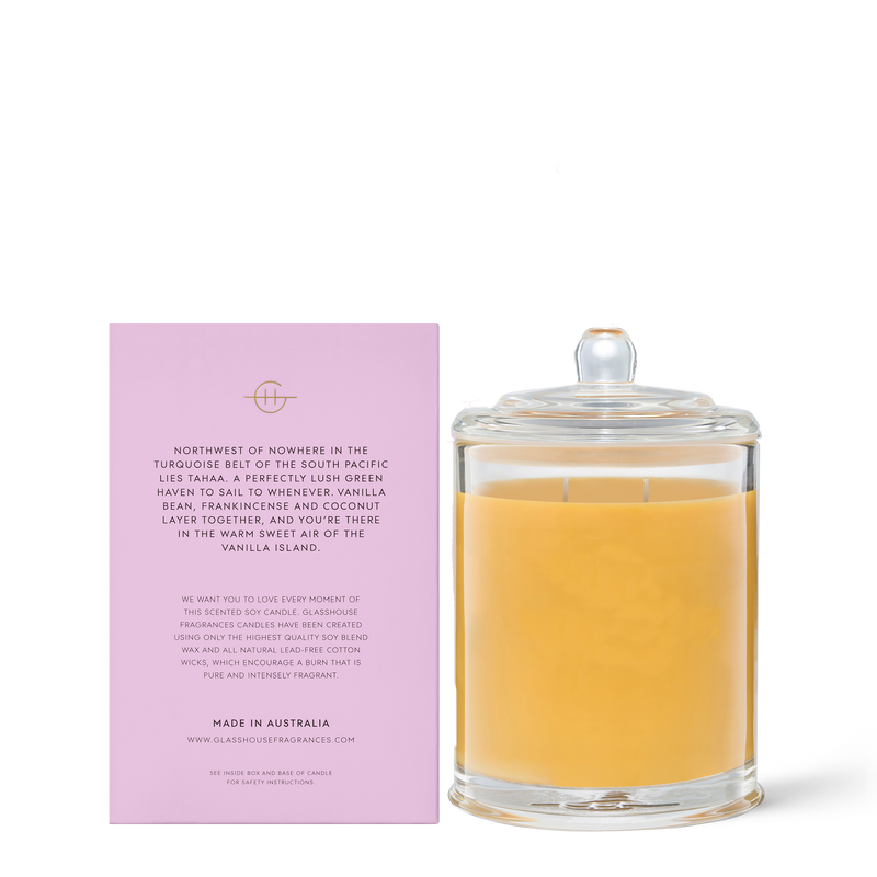 Glasshouse Fragrances 380g A Tahaa Affair Candle