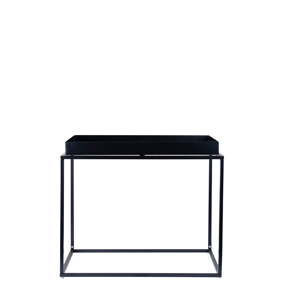 Valise Brooklyn Rectangular Coffee Table in Obsidian Black