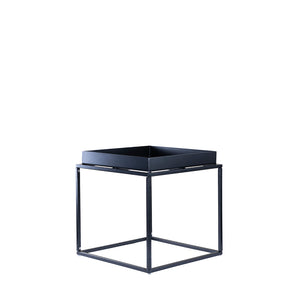 Valise Brooklyn Side Table in Obsidian Black