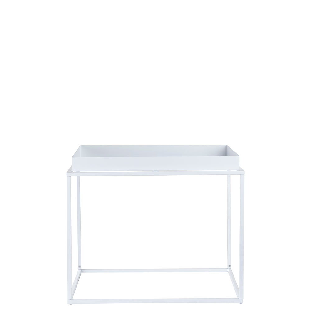 Valise Brooklyn Rectangular Coffee Table in Alabaster White