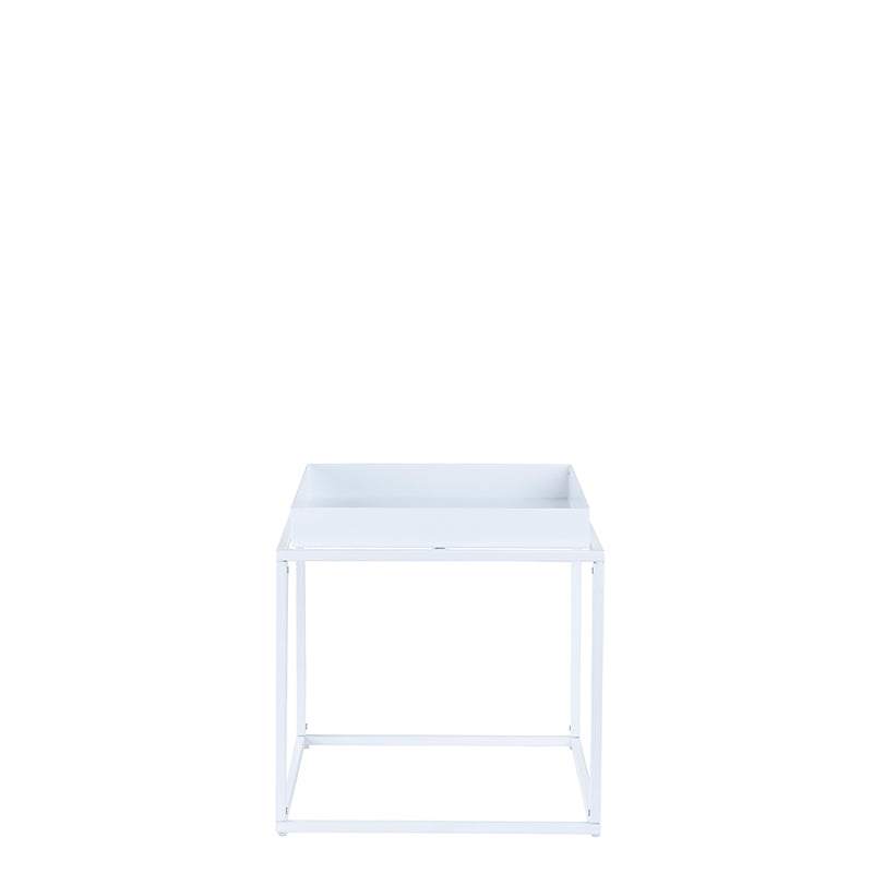 Valise Brooklyn Side Table in Alabaster White