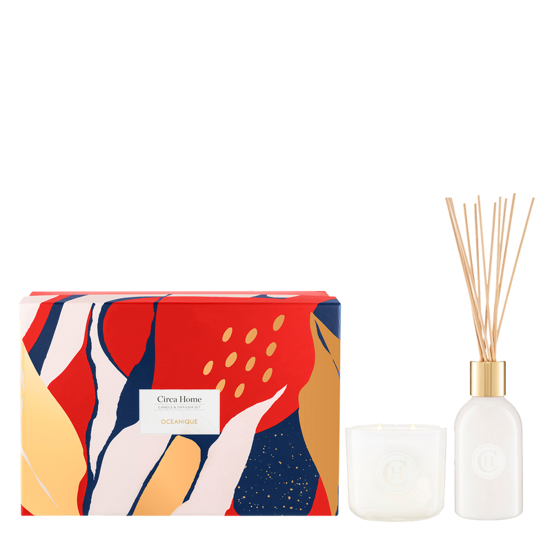 Circa Home Oceanique Candle & Diffuser Gift Set