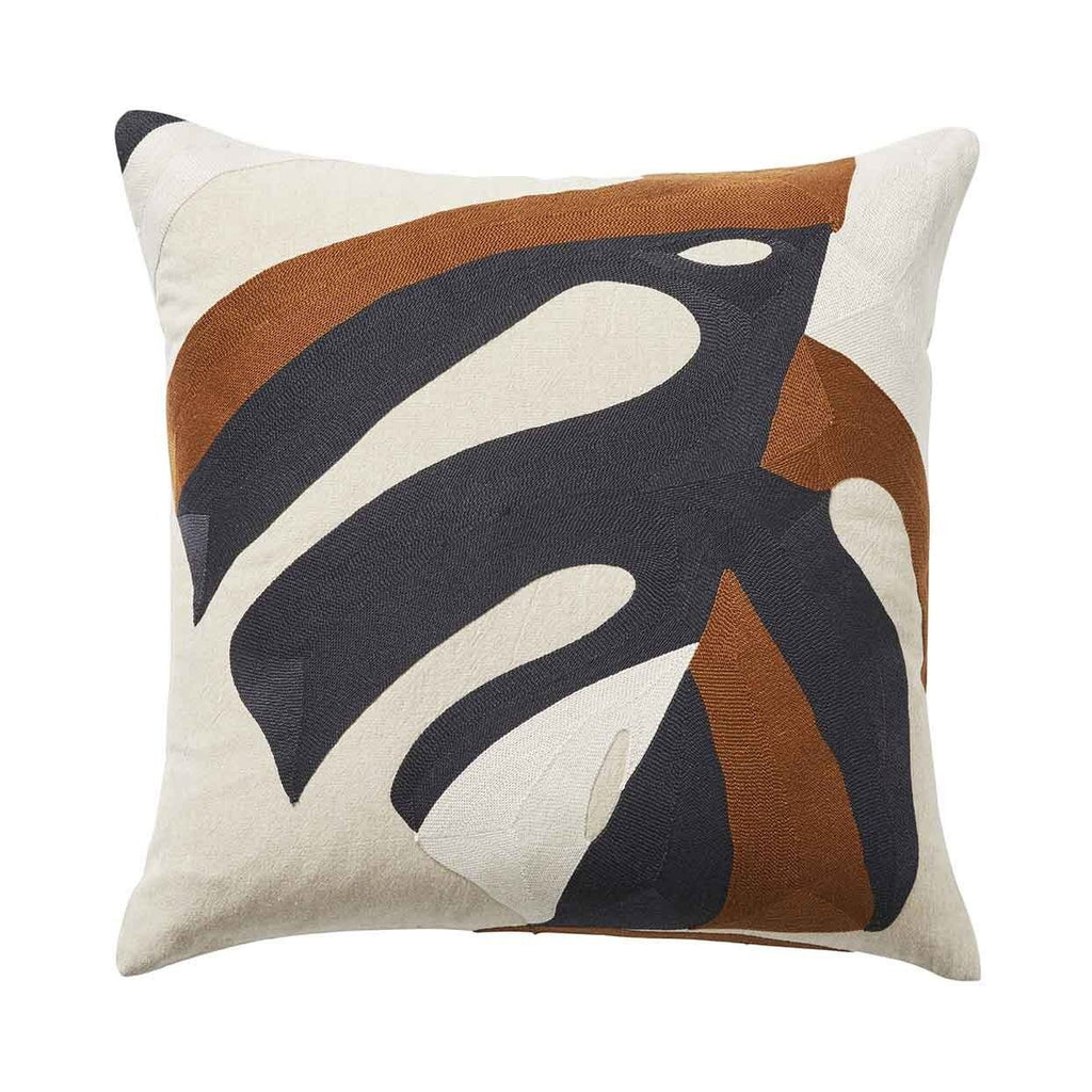Weave Monstera Cushion Spice