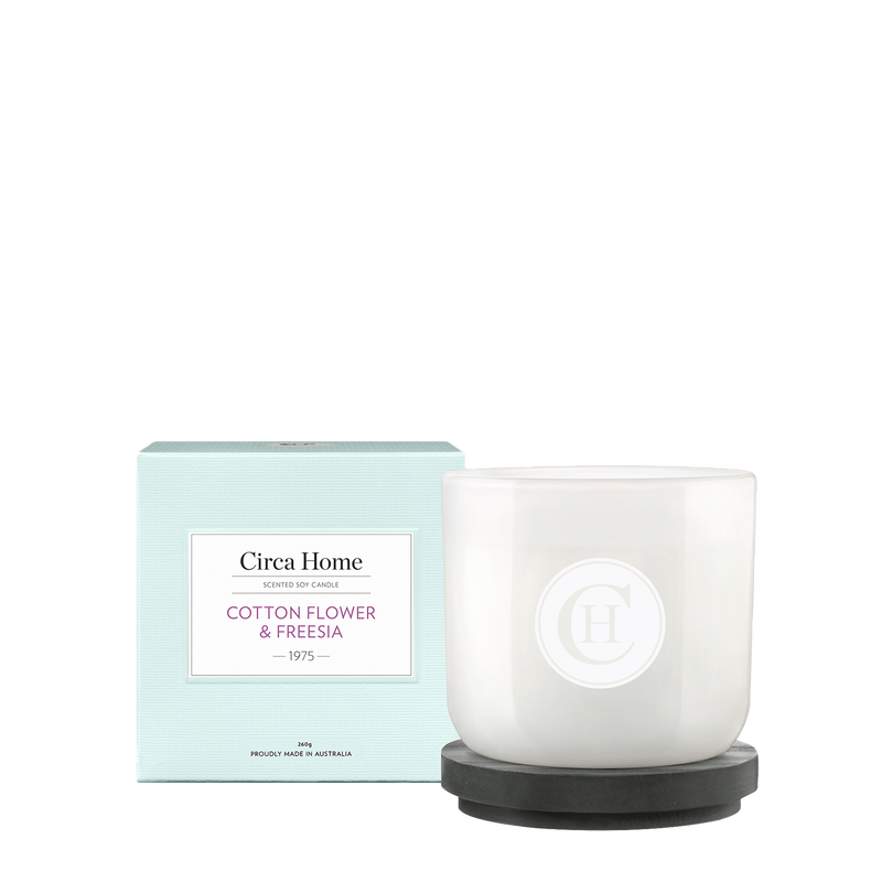 Circa Home Classic 260g Candle 1975 Cotton Flower & Freesia