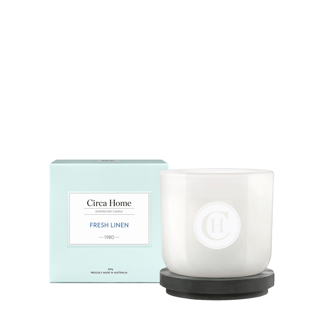 Circa Home Classic 260g Candle 1980 Fresh Linen