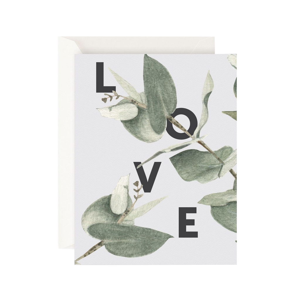 Father Rabbit Stationery Card Eucalyptus Love