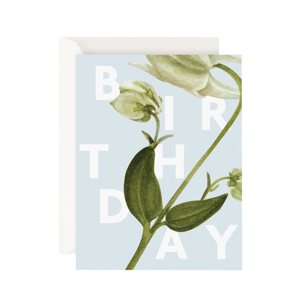 Father Rabbit Stationery Card Floral Birthday