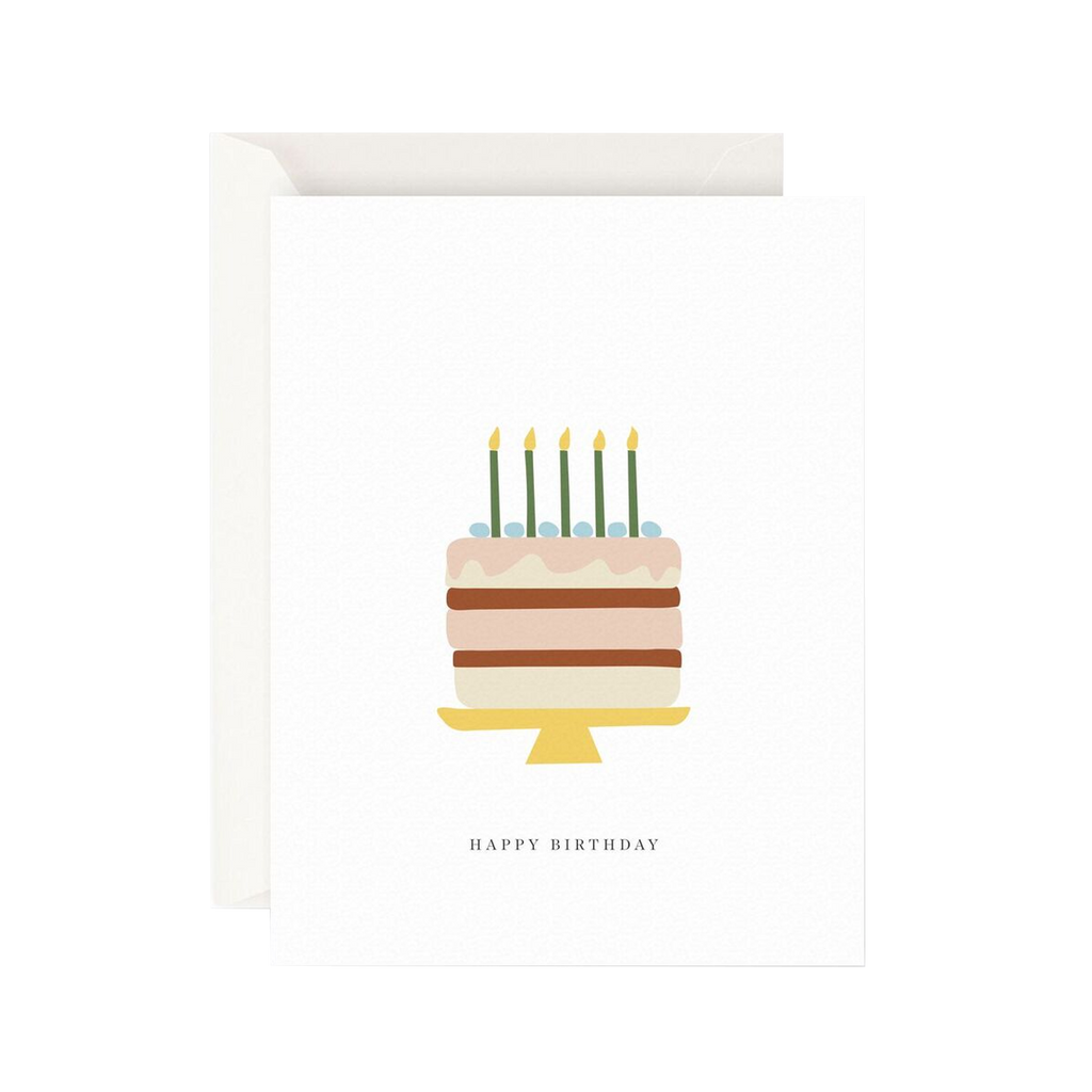 Father Rabbit Stationery Card Happy Birthday Cake