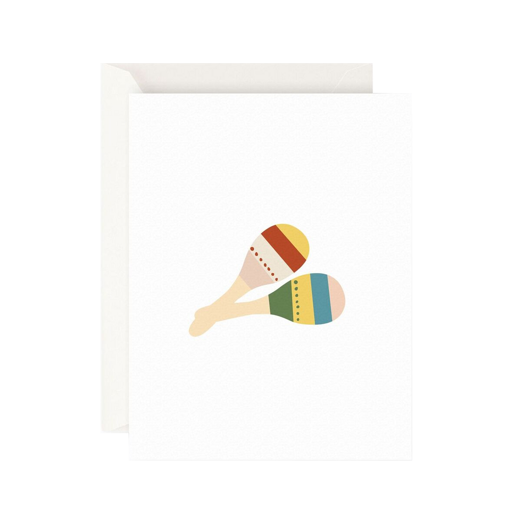 Father Rabbit Stationery Card Maracas