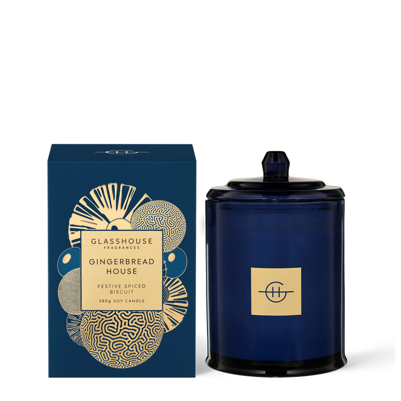 Glasshouse Fragrances 380g Gingerbread House Candle