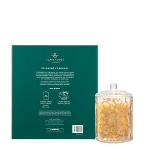 Glasshouse Fragrances 380g A Tahaa Affair Candle & Spinning Carousel