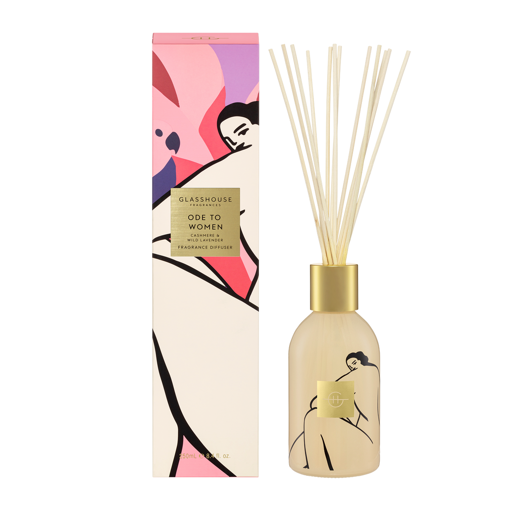 Glasshouse Fragrances 250ml Ode to Women Diffuser