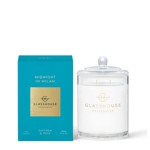 Glasshouse Fragrances 380g Midnight in Milan Candle