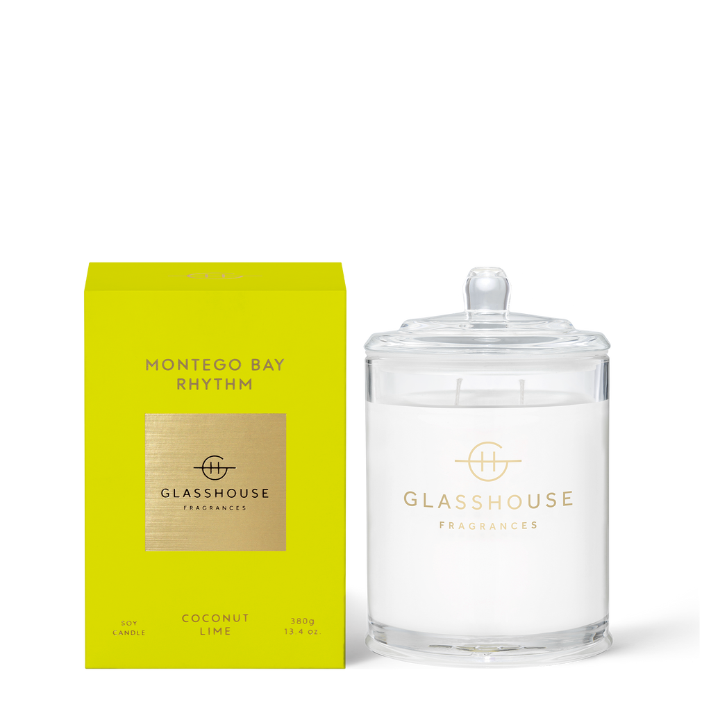 Glasshouse Fragrances 380g Montego Bay Rhythm Candle