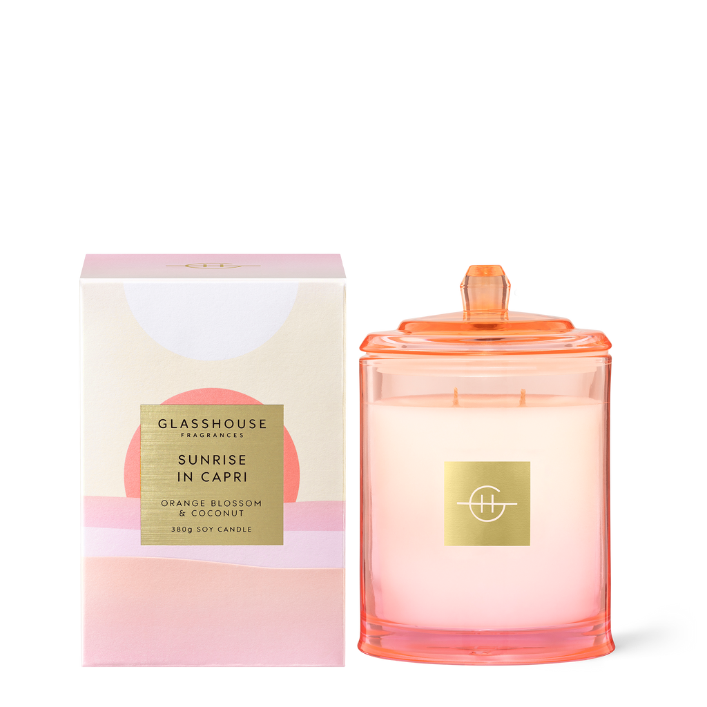 Glasshouse Fragrances 380g Sunrise in Capri Candle