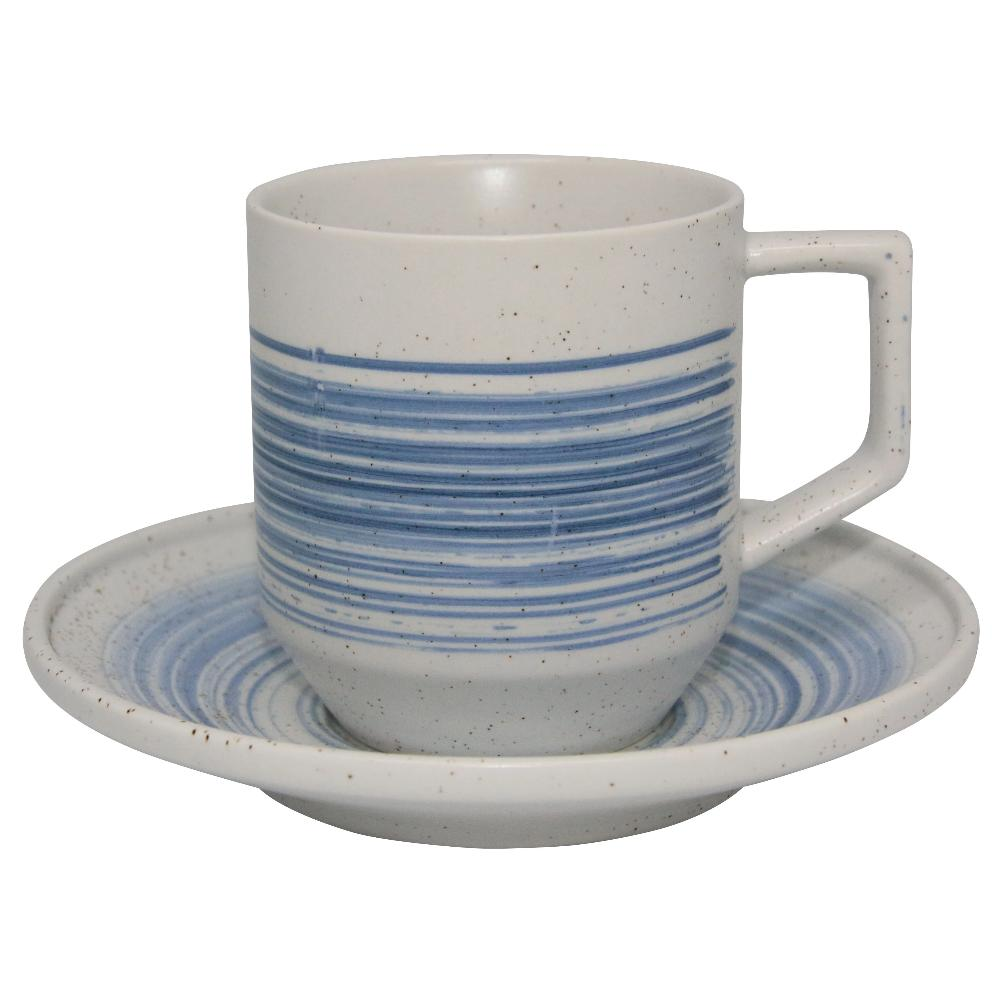 Valise York Cup and Saucer China Blue
