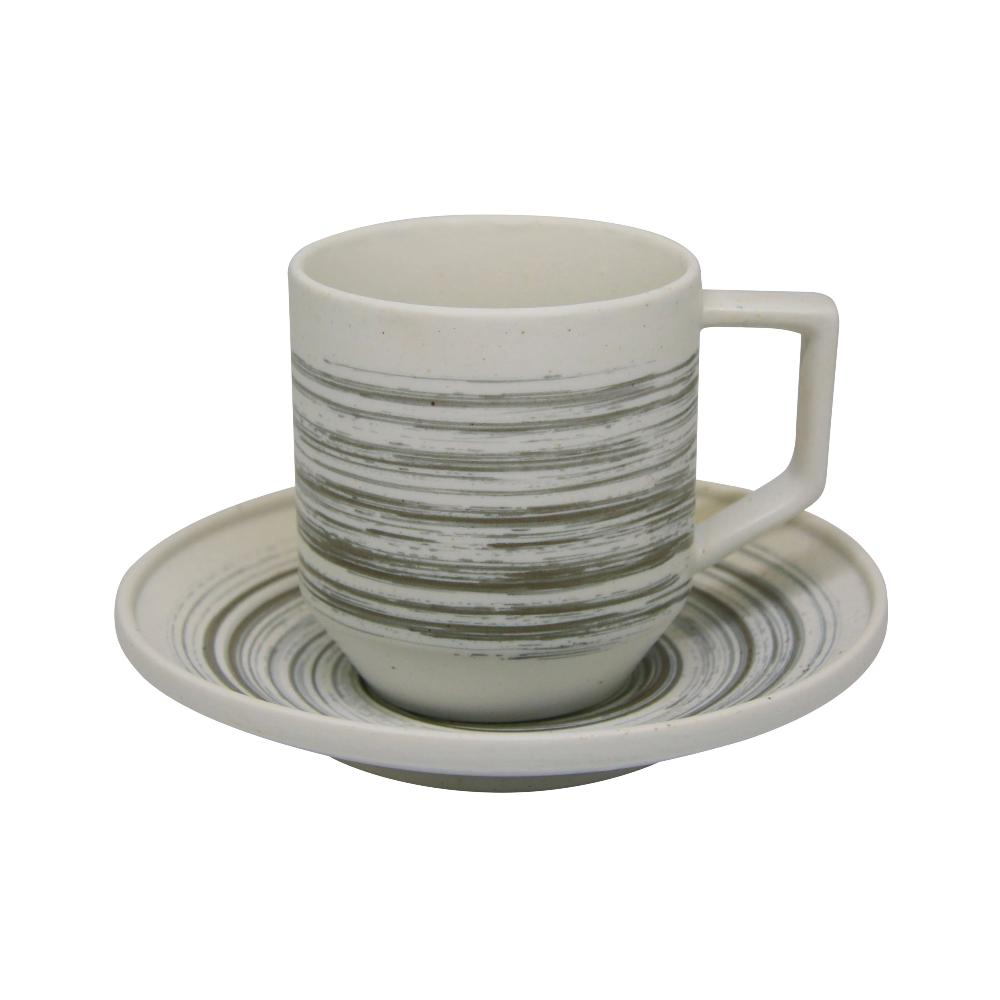 Valise York Cup and Saucer Platinum Silver